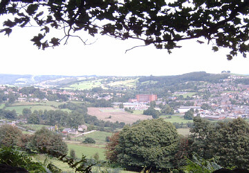 The view over Belper from the track