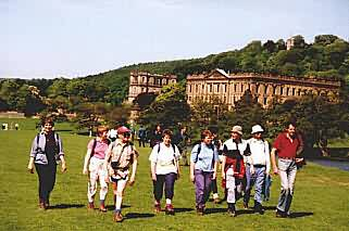 Walkers in Chatsworth Park