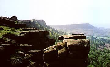 Curbar Edge with Baslow Edge in the background